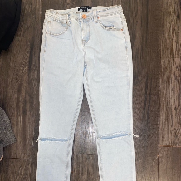 American Egal light blue washed skinny jeans